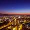 Dusk in Izmir: A blue hour in the city of Izmir, Turkey taken with a DJI Phantom drone