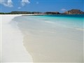 Big pure white sand beache at Lombok - Indonesia