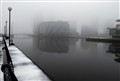 Salford Quays in the Fog