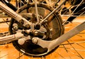 1912 Harley Davidson Rear Wheel Hub Watercolor