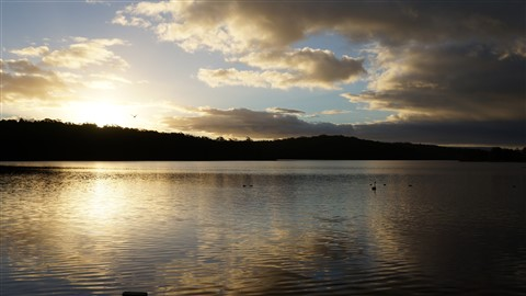 Burrill Lake at sunset