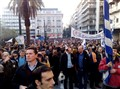 protesting at Syntagma square Athens