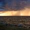 orage et coucher soleil
