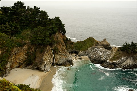 Along California coast