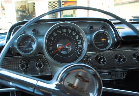 1957 Chevrolet speedometer through wheel