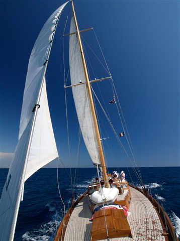 Luxury antique sailboat