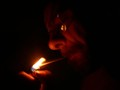 smoking in the dark