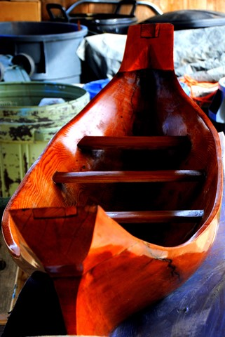 native carved canoe