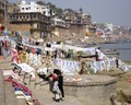 Laundry day by the Ganges