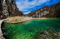 Green Water of Plitvice Lakes