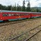 The diesel railcar is hauling four trailer cars DSC00121 Bogotá Turistren