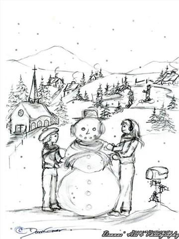 Drawing of Winter Fun