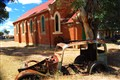 Old Church and car, Western Australia