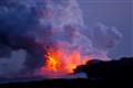 Lava hitting water on the Big Island