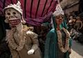 Trick or Treat,Halloween ghosts,dressed,in wedding