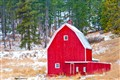 red barn in Hills winter 2011