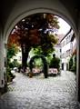 Regensburg. Biergarten (Beer garden) waiting for clients