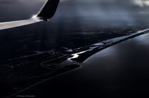 From the air, flying into Orlando