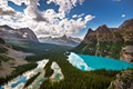 Yoho National Park, British Columbia, Canada Mary Lake and Lake O'Hara as seen from the Opabin Prospect.