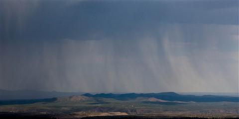 Rain near Santa Fe