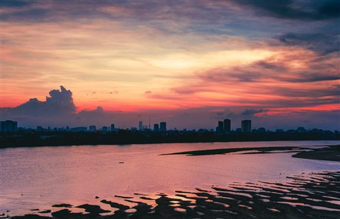 Red River Sunset (Ha Noi Viet Nam)