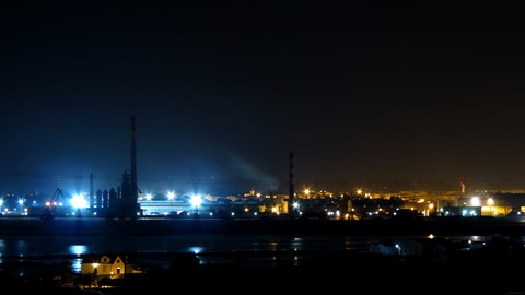 Night view from Barreiro