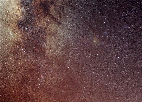 Milky way in Scorpio