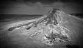 a mud volcano