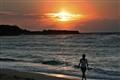 Walking on sunrise