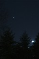 Venus, Jupiter and the Moon from the front yard