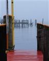 Marina dock fog