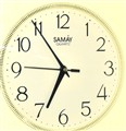 white clock.