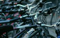 Bikes on a sidewalk