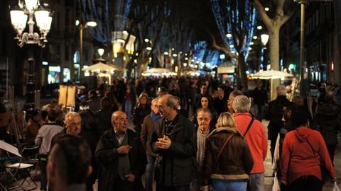 Barcelona Las Ramblas 5.1.2013