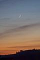 Young Moon over Château de la Madeleine