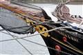 Bow of sailing boat