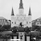 St Louis Cathedral 1 B&W