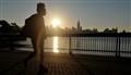 New York sunrise, Hoboken silhouette