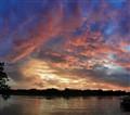 Kanchanaburi City River Veiw Sunset, Thailand