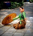 Thai Dancer with Umbrella