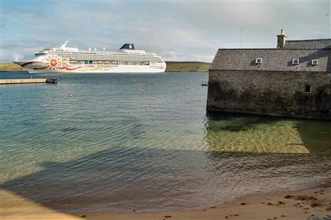 "The ""Norwegian Sun"" in Lerwick Sound, Shetlands"