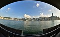 Hong Kong Skyline Through Fisheye