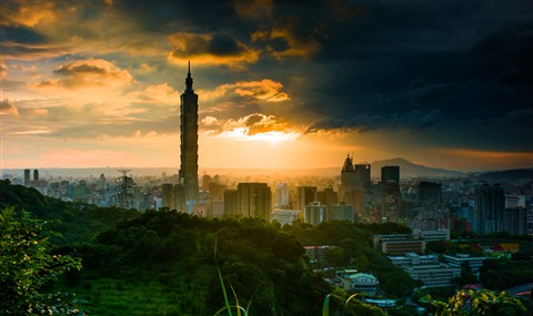 sunset taipei taiwan