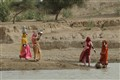 Women collecting water in Rajasthan, India