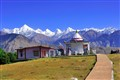 Nanda Devi Temple with  Panchchuli Peaks As a Backdrop - Munsiyari, Uttarakhand, India