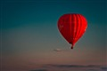 Man's flying balloon...