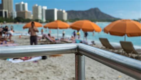 Waikiki Beach Railing