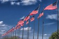 Flags on Temple, Texas VA hospital grounds.