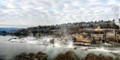 Willamette Falls on a frigid morning