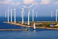 Windmills at Trefshaleve outside the Copenhagen Harbour